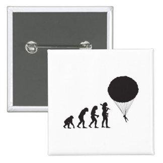 El lanzarse en paracaídas pin cuadrada 5 cm