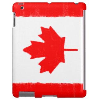 El lápiz canadiense de la cera bosquejó la bandera