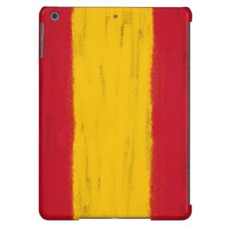El lápiz de la cera de España bosquejó la bandera Funda Para iPad Air