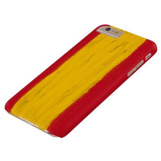 El lápiz de la cera de España bosquejó la bandera Funda Barely There iPhone 6 Plus