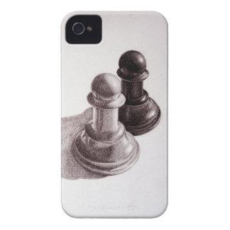 El lápiz dibujado empeña ajedrez Case-Mate iPhone 4 cobertura