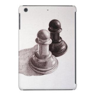 El lápiz dibujado empeña ajedrez fundas de iPad mini retina