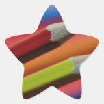 El LÁPIZ Red-and-yellow-crayons1412 DIBUJA CON CRE Pegatinas Forma De Estrella