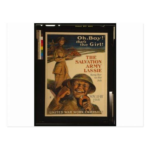 El Lassie del Ejército de Salvamento Postales