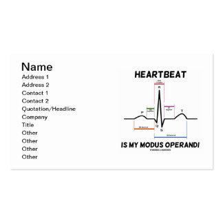 El latido del corazón es mi modus operandi (ECG/EK Tarjeta De Negocio