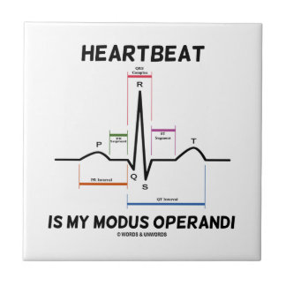El latido del corazón es mi modus operandi (el azulejo cuadrado pequeño
