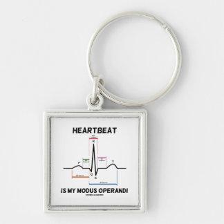 El latido del corazón es mi modus operandi (el llavero cuadrado plateado