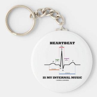 El latido del corazón es mi música interna llavero redondo tipo pin