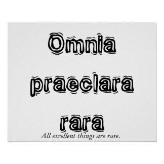 El latín expresa excelencia póster