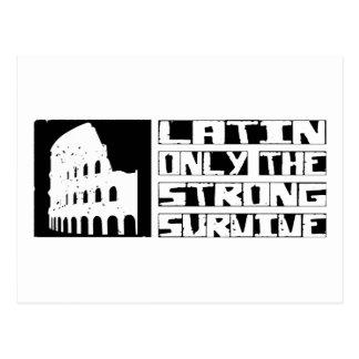 El latín sobrevive postal