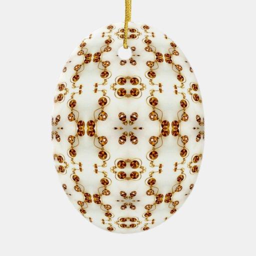 El latón perforó la mandala del caleidoscopio de adorno ovalado de cerámica