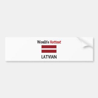 El Latvian más caliente del mundo Pegatina De Parachoque