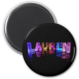 El Lauren conocido en 3D se enciende (la fotografí Imán De Nevera