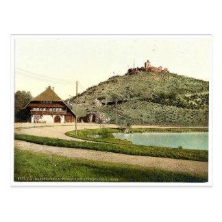 El Lauterberg con la casa de Swartzwald Karlsruhe Postal
