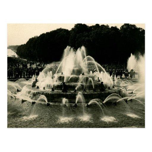 El lavabo de Latone, vintage de Versalles, Francia Tarjetas Postales