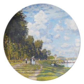 El lavabo en Argenteuil Claude Monet Plato De Cena