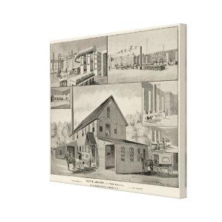El lavadero de Toof, concordia, NH Lona Envuelta Para Galerías