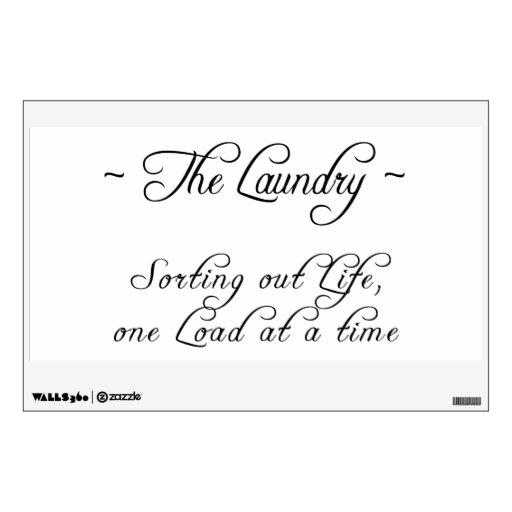 El lavadero: Etiqueta de la pared de la sabiduría