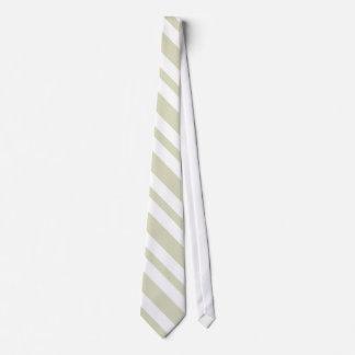 El lazo (beige) de los hombres rayados del blanco corbatas personalizadas