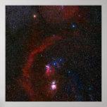 El lazo de Barnard alrededor de Orión Poster