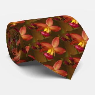 El lazo de los hombres de la orquídea de Cattleya Corbata Personalizada