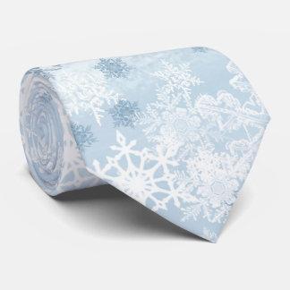 El lazo de los hombres de los copos de nieve corbata personalizada