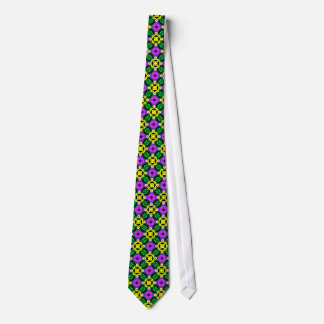 El lazo de los hombres: Geométrico de neón Corbata Personalizada