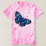 El lazo de mariposa azul tropical muere camiseta camisas