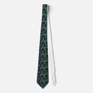 El lazo del pavo real de la pluma de los hombres corbata