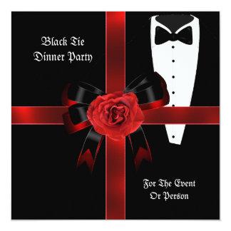 El lazo negro rojo formal del fiesta de cena comunicado