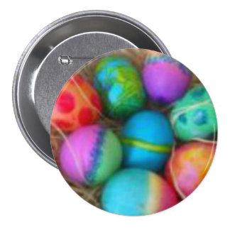 El lazo teñido Eggs los pernos del botón