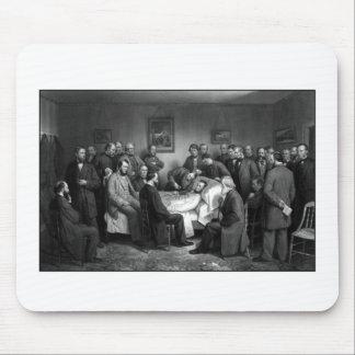 El lecho de muerte de Lincoln Tapete De Raton