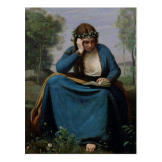 El lector coronado con las flores, o Virgil Postales