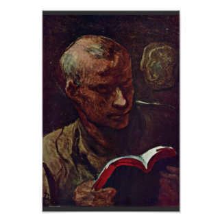 El lector de Daumier Honoré Impresiones