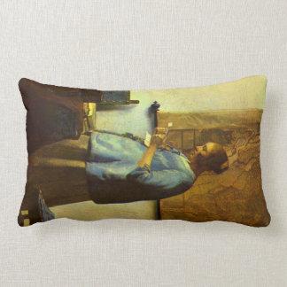 El lector de la letra de Juan Vermeer Cojines