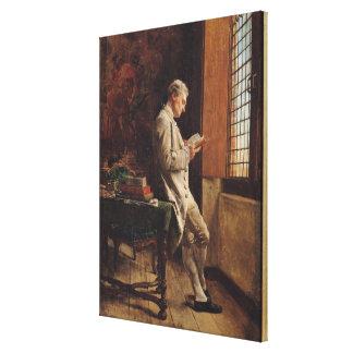 El lector en el blanco, 1857 lona envuelta para galerías