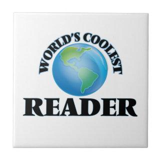 El lector más fresco del mundo tejas  cerámicas