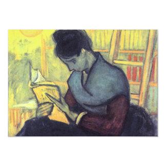 """El lector nuevo de Vincent van Gogh Invitación 5"""" X 7"""""""
