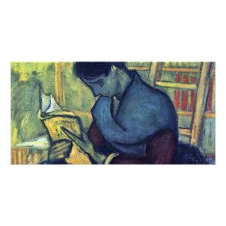 El lector nuevo de Vincent van Gogh Tarjeta Fotográfica