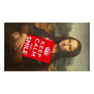 El lema de Mona Lisa de la confianza Tarjetas De Visita