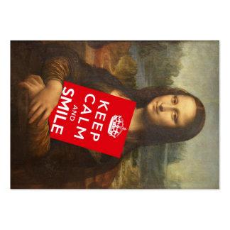 El lema de Mona Lisa de la confianza Tarjetas De Visita Grandes