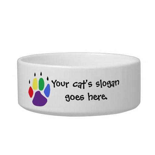 El lema de su gato va aquí tazones para gatos