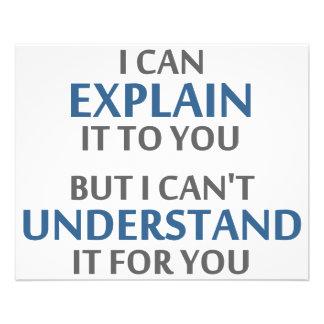 """El lema del ingeniero no puede entenderlo para ust folleto 4.5"""" x 5.6"""""""