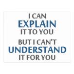 El lema del ingeniero no puede entenderlo para ust postales