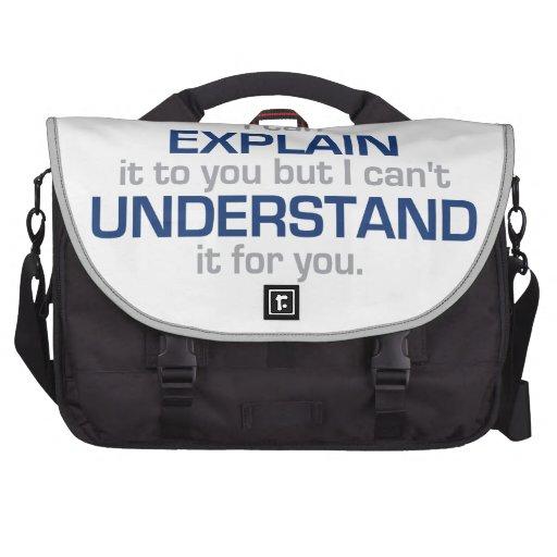 El lema del ingeniero - tipo materia de la ciencia bolsas para portatil