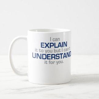 El lema del ingeniero - tipo materia de la ciencia taza básica blanca