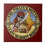 El lema del pirata teja  ceramica
