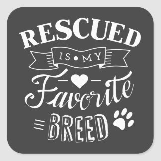 El lema rescatado es mis pegatinas preferidos del calcomania cuadrada personalizada