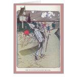 El leñador de la lata despluma el color de rosa tarjeta de felicitación