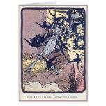 El leñador de la lata lucha los grajos tarjeta de felicitación